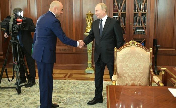 Владимир Путин провёл рабочую встречу сврио главы администрации Липецкой области Игорем Артамоновым