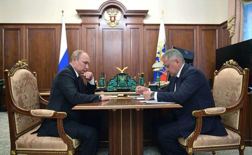 Встреча с Министром обороны Сергеем Шойгу.
