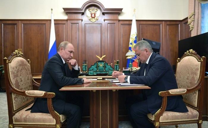 Встреча Президента сМинистром обороны Сергеем Шойгу – трагедия в северном море