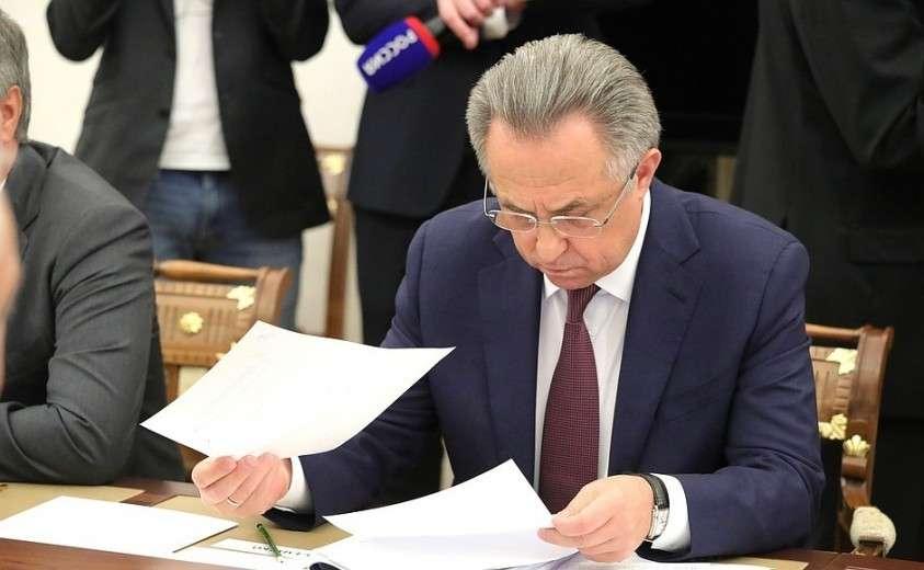 Перед началом совещания с членами Правительства. Заместитель Председателя Правительства Виктор Мутко.