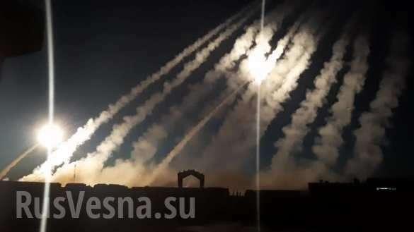 Сирия: армия США и боевики пускают ракеты по пустыне | Русская весна