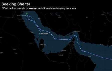 Английский крупнотоннажный танкер спрятался от мести Ирана в саудовских водах, разорвав контракт