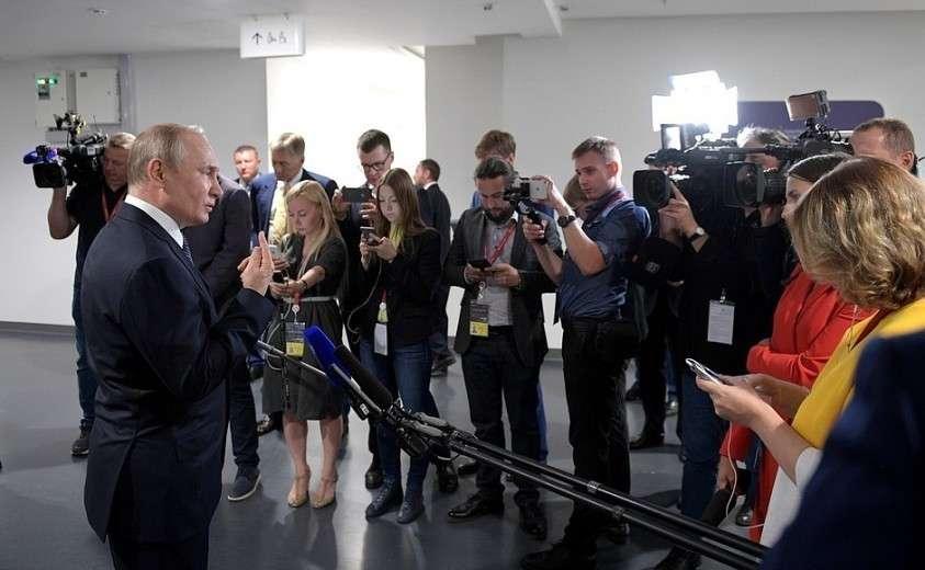 Встреча с российскими журналистами.
