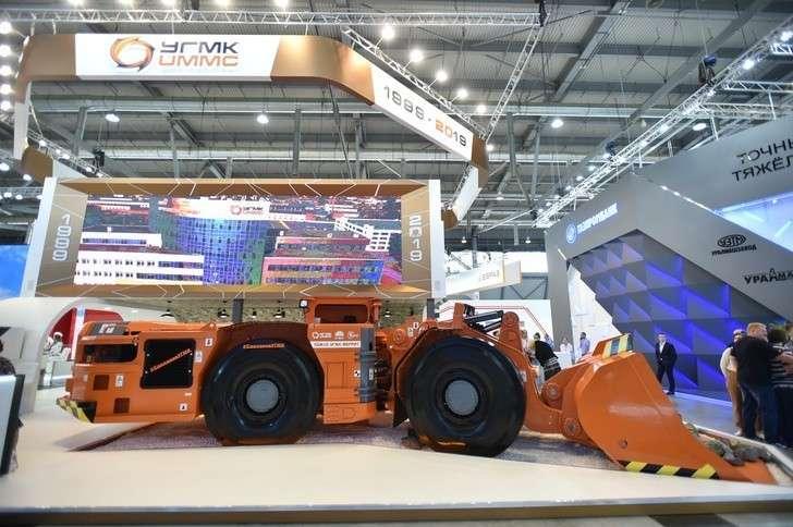 УГМК представила на Иннопроме шахтную машину ПДМ10-УГМК