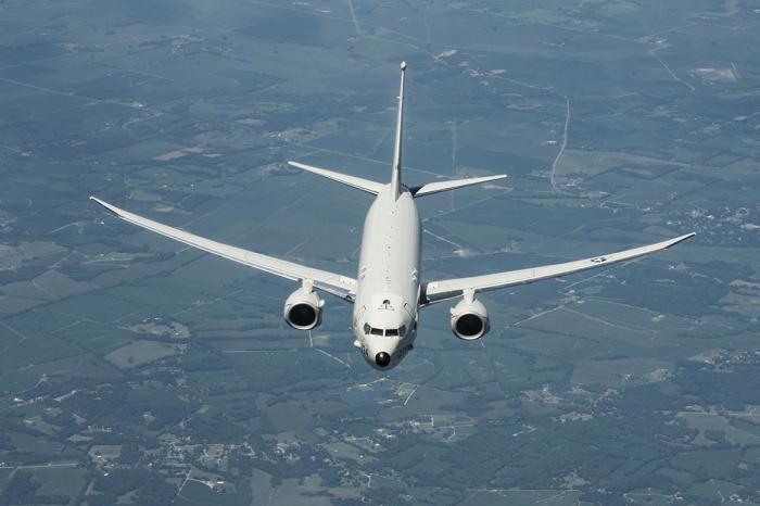 Самолет радиоэлектронной разведки британских ВВС проводит разведку у Черноморского побережья России