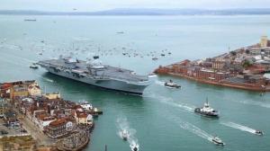Новейший британский авианосец – флагман королевского флота снова протёк, сразу после ремонта