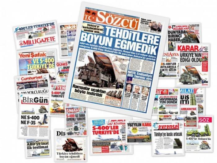 Как турецкая пресса отреагировала на поставку первой партии ЗРК С-400 из России