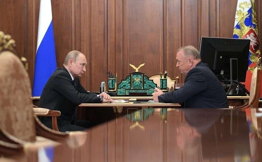 Рабочая встреча с президентом Торгово-промышленной палаты Сергеем Катыриным.