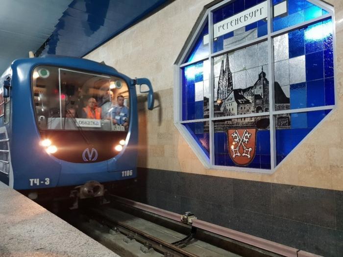 В Санкт-Петербурге до новой станции метро «Шушары» прошёл первый поезд