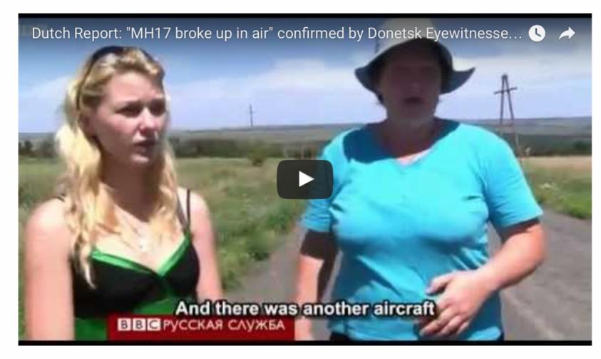 Рядом со сбитым Боингом MH17 был военный самолёт, но Украина и Запад скрывают это