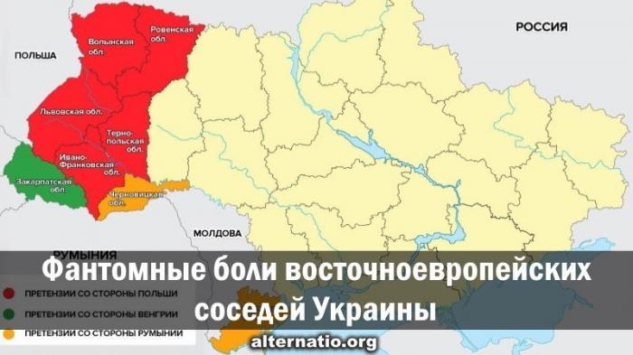 Какие земли хотят оторвать у Украины соседи?