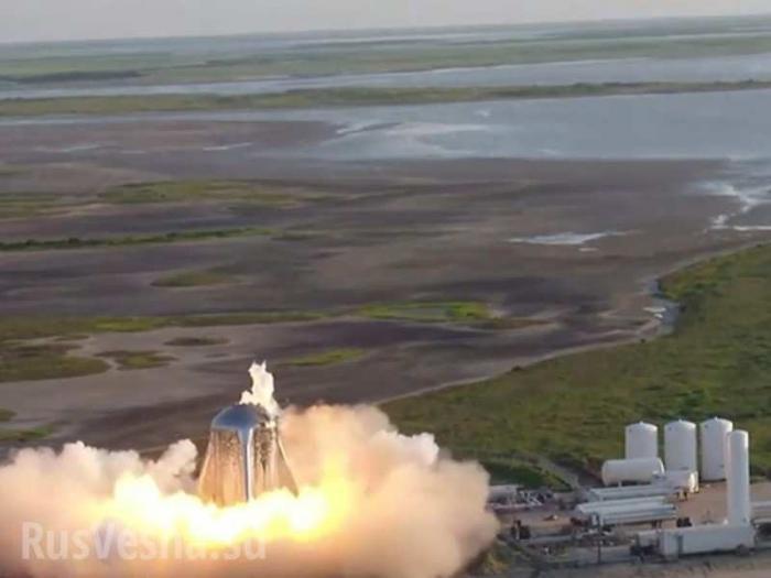Звездолёт Маска загорелся вовремя испытаний