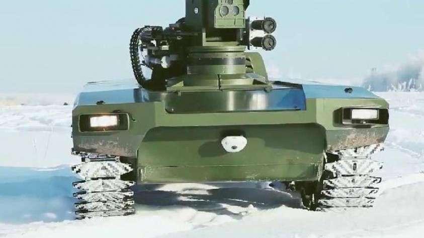 Новый боевой робот «Маркер» прошёл ходовые испытания