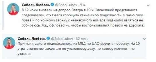 Аферистка Любовь Соболь и её пятая колонна попали под следствие