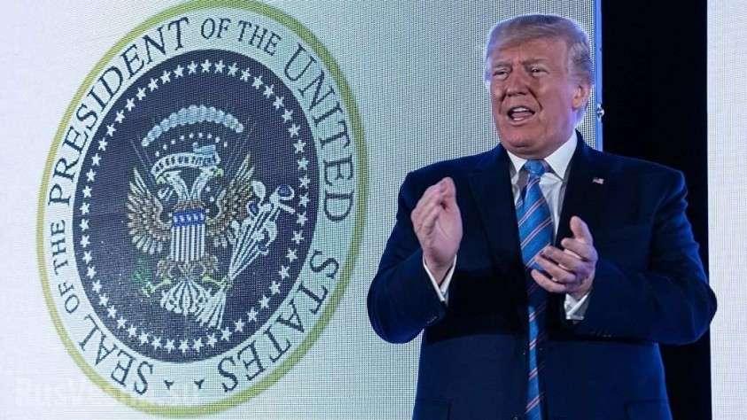 Неожиданно: двуглавый орёл появился на печати президента США