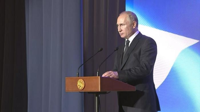 Владимир Путин выступил на торжественном приёме в здании Главного Адмиралтейства по случаю Дня ВМФ