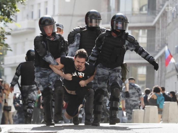 Больше половины задержанных на протестах Навального в Москве оказались не москвичами