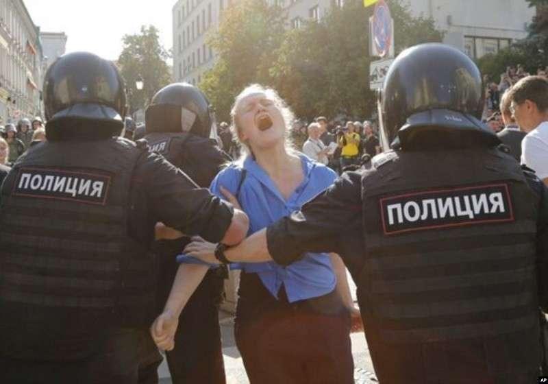Митинги Навального в Москве. Все ужасы кровавого режима