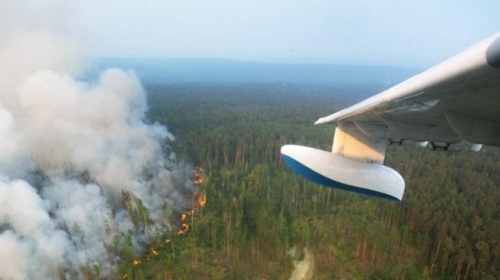 Тушение пожаров в Сибири и Якутии: сотни тонн воды с воздуха