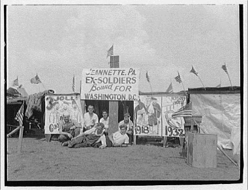 Расстрел (голодного) народа в Вашингтоне в 1932-м году