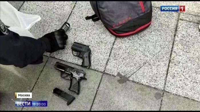 Арсенал «мирных» участников незаконной акции в Москве: газ, травматы, нож и бита