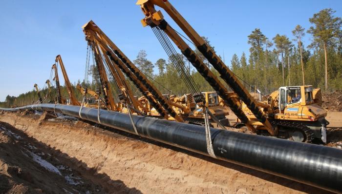 Русский и китайский участки газопровода «Сила Сибири» состыковали на границе