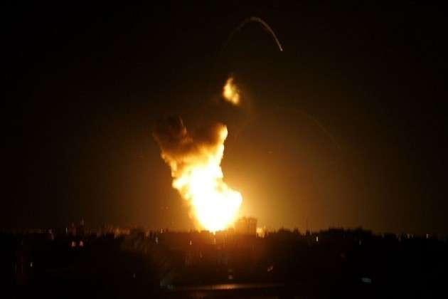 Взрыв ночью