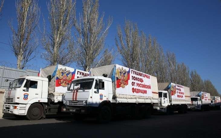 В пятницу, 31 октября, первые грузовики российской гуманитарной колонны пересекли границу с Украиной на КПП