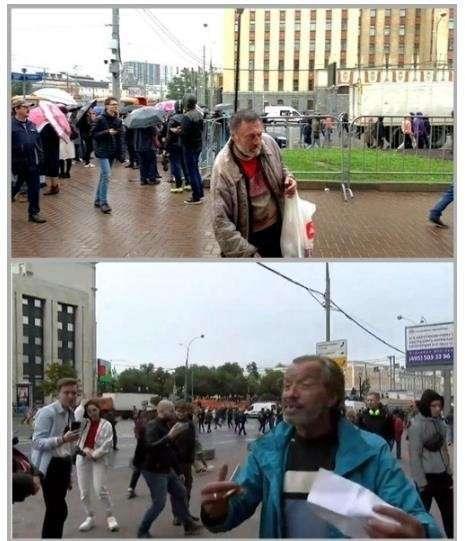 В Москве митинговать на Сахарова вышли бомжи, извращенцы и майдаутые