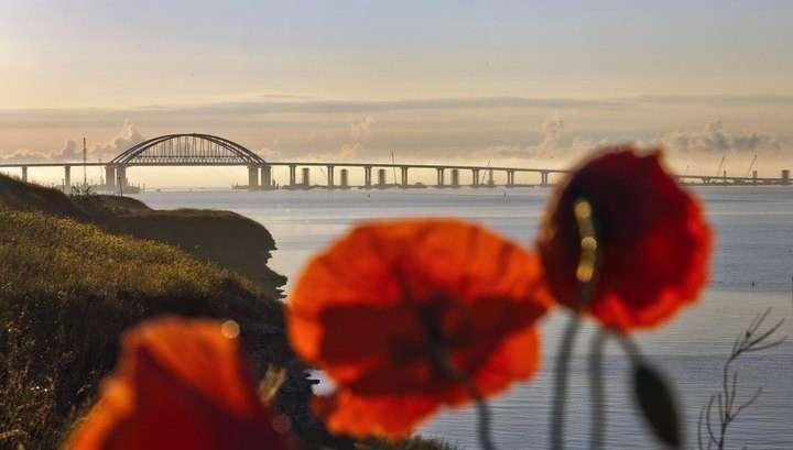 На Крымском мосту зафиксирован новый рекорд интенсивности движения