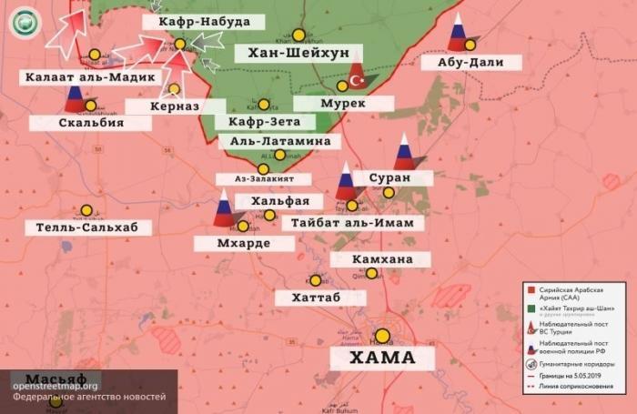 Сирия. 16 километров до полного окружения наёмников в Хан-Шейхуне