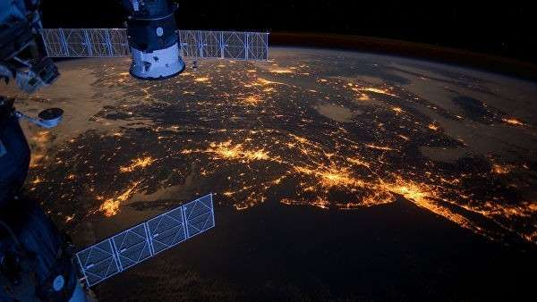 Вид с МКС на Землю
