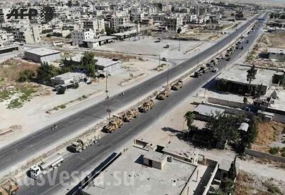 ВВС Сирии ударили по турецкой колонне движущийся на помощь в Хан-Шейхун | Русская весна