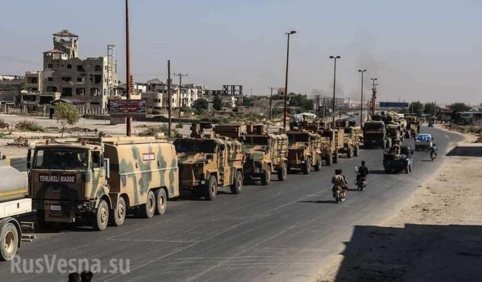 ВВС Сирии ударили по турецкой колонне движущийся на помощь в Хан-Шейхун
