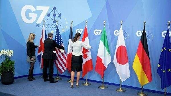 Подготовка к открытию саммита G7 в Брюсселе