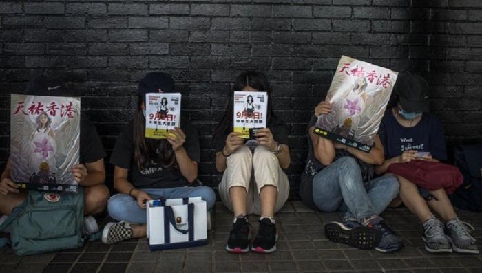 К акциям протеста в Гонконге присоединились школьники
