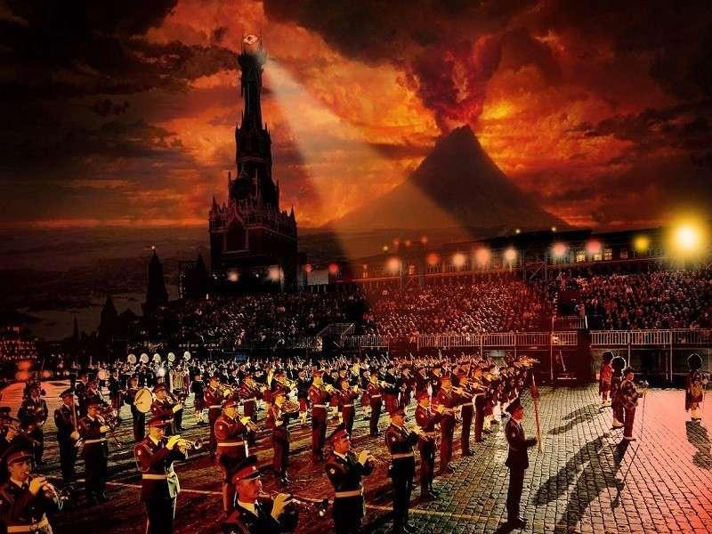 Москва. Военные оркестры из 12 стран съехались на фестиваль «Спасская башня»