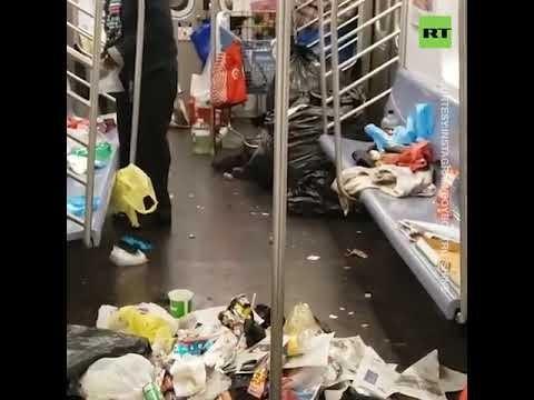 Метро Нью-Йорка всё в мусоре, зато США несут свои ценности Сирии, Ливии и всему миру