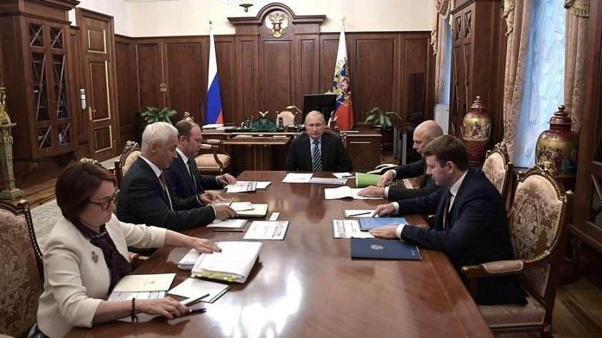 Совещание Владимира Путина по экономическому положению России