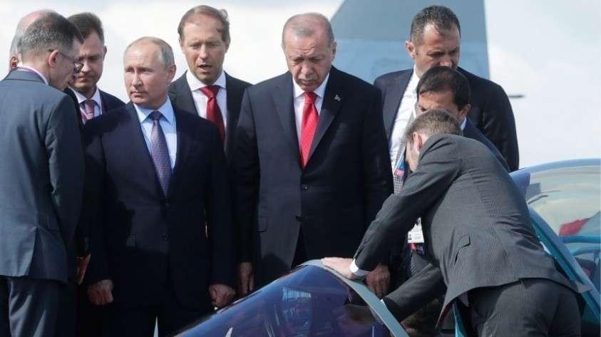 Встреча Путина и Эрдогана на полях МАКС-2019