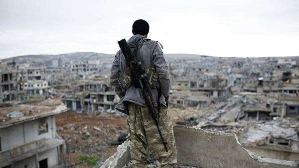 Сирийский курдский снайпер