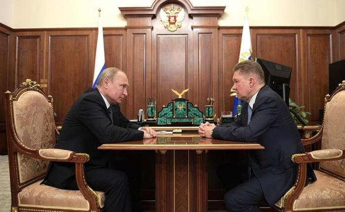 Алексей Миллер доложил Владимиру Путину о работе «Газпрома» и реализации «Силы Сибири»