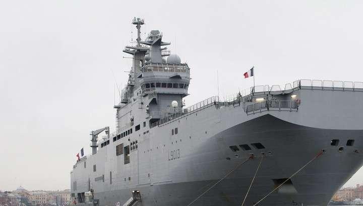 Франция строит для России только полуфабрикат «Мистраля»