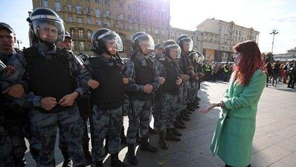 Несанкционированная акция в поддержку незарегистрированных кандидатов в Мосгордуму. 3 августа 2019