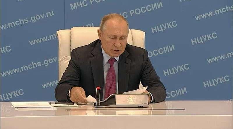 Владимир Путин провёл совещание по вопросам ликвидации последствий паводков на Дальнем Востоке