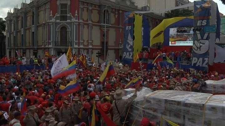 Более 13 миллионов жителей Венесуэлы вышли на марш в поддержку Мадуро