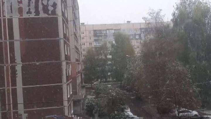 В Москве и центральной России выпал первый снег