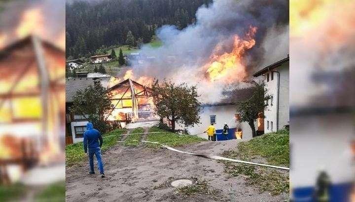 В Австрии мощный взрыв камня на камне не оставил от супермаркета