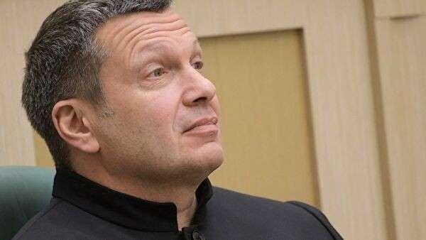 Журналист, теле– и радиоведущий Владимир Соловьев на заседании Совета Федерации РФ. 28 марта 2018