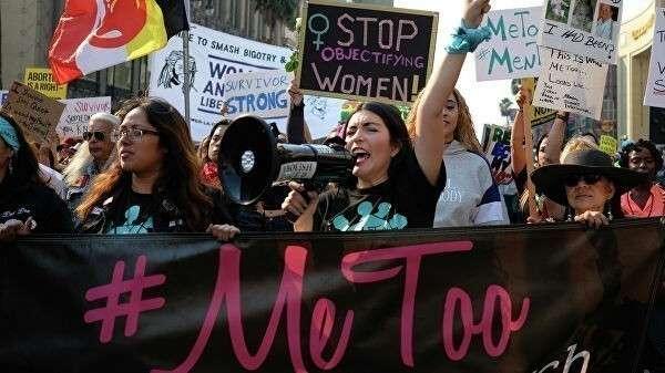 Активисты движения  #MeToo в Голливуде, США